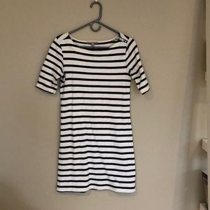 Gap blue and white striped dress